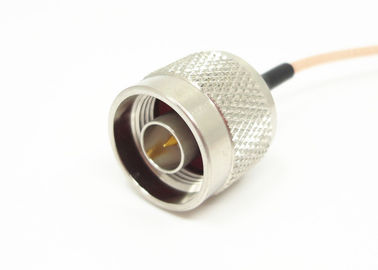 RG142 RF Cable Assemblies N Male To Male RF Coaxial Connector 50Ω Impedance