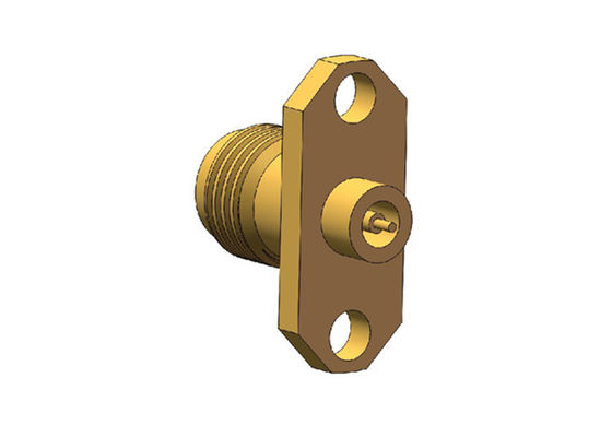 Brass Gold Plated Female 2.4mm Miniature Rf Connectors