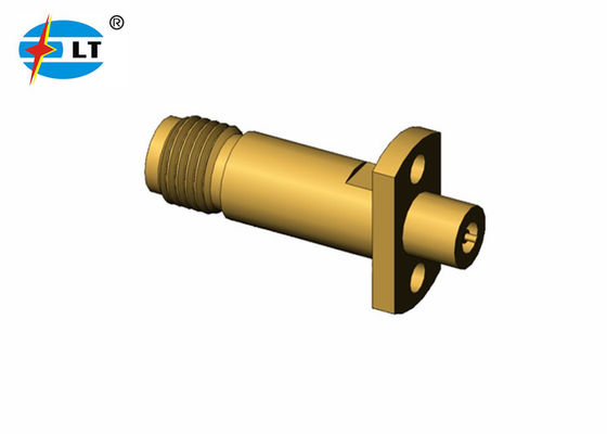 50OHM 3.5 Mm Female Jack Connector Gold Plated RF Millimeter Wave Connector