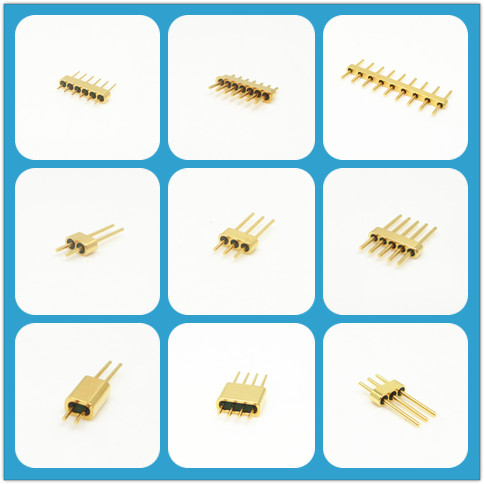 Gold Plated Hermetic Multi Pin Connector Kovar Alloy 4J29 Glass To Metal Seals